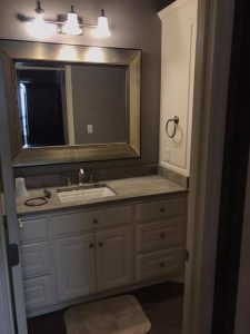 remodeling bathroom bathrooms remodeler remodeled new vanity sink counter mirror georgetown kentucky